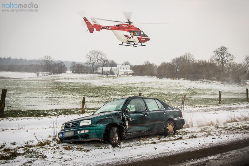 Verkehrsunfall nahe der Ortschaft Ausacker - © Benjamin Nolte