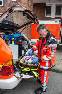 Rettungsassistent Harald Ewers am NEF