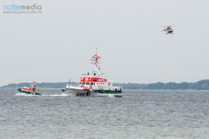 Rettungskräfte bei einem Sucheinsatz auf der Flensburger Förde  - © Benjamin Nolte / www.bos-inside.de
