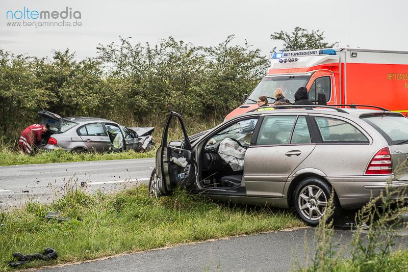 Schwerer Unfall nahe Schafflund - Foto: Benjamin Nolte / www.bos-inside.de