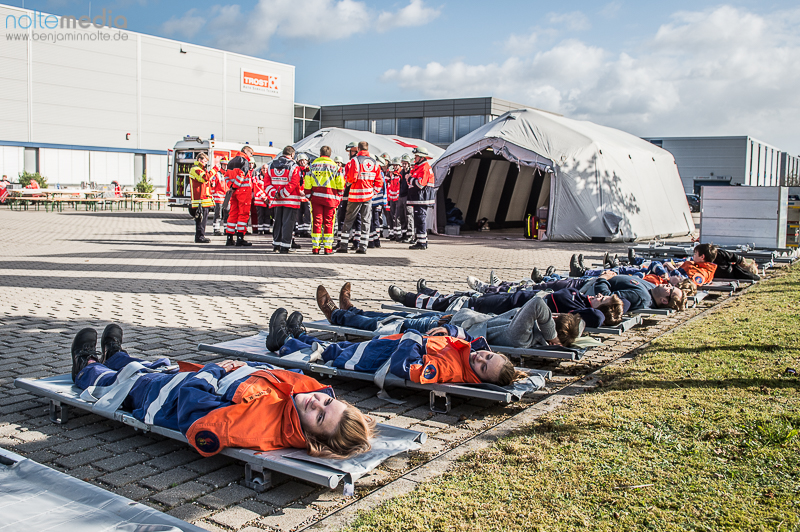 Großübung der Hilfsorganisationen in Flensburg - Foto: Benjamin Nolte / www.bos-inside.de