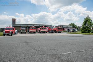 Der Fuhrpark der Bundeswehr-Feuerwehr in Jagel