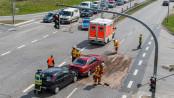 Unfall auf der Osttangente - Foto: Benjamin Nolte / www.bos-inside.de