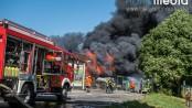 Großbrand in Langballig - Foto: Benjamin Nolte / www.bos-inside.de