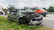 Schwerer Unfall auf der A7 - Foto: Benjamin Nolte / www.bos-inside.de