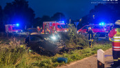 Schwerer Unfall am Samstagabend nahe Satrup - Foto: Benjamin Nolte / www.bos-inside.de