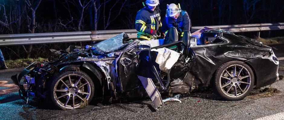 Tödlicher Unfall auf der A7 bei Handewitt - Foto: www.bos-inside.de